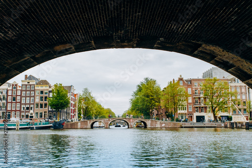 Photo  Amsterdam, Netherlands September 5, 2017 : Bridge over canal in Amsterdam