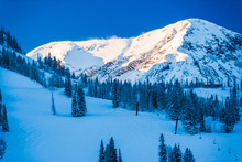 Ski Trails In Snowbird, Utah, ...