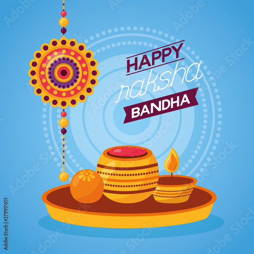 happy raksha bandhan celebration Wallpaper Mural