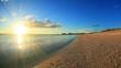 Okuma Beach at sunset, Kunigami, Okinawa Prefecture, Japan