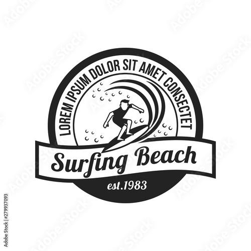 Photo Vector surfing logo