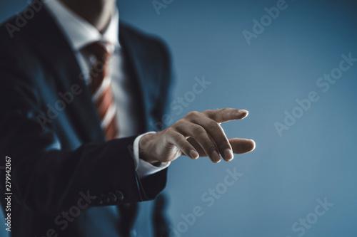 Fotografie, Tablou 指をさすビジネスマン