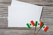September 16. Independence day Mexico, the concept of independence , patriotism and freedom. Mini paper flags on wooden background. horizontal