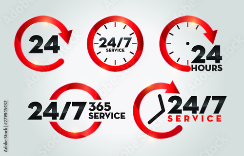 24 Hours 365 Days Service Canvas-taulu