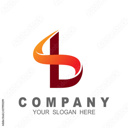 bs logo ,letter b with simple logo design template, sb icon