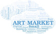 Art Market word cloud. Vector made with text only.