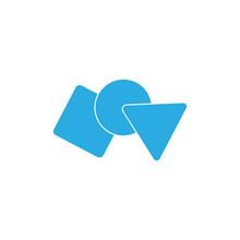 Basic Shape Linked Simple Kid Education Logo Vector