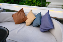 Pillows On Mattress Sofa In Ba...