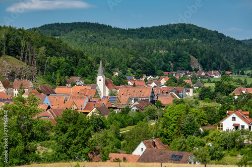 The town of Hohenburg, Upper Palatinate in Bavaria, Germany Canvas Print