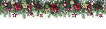 Festive Christmas Border, Isol...