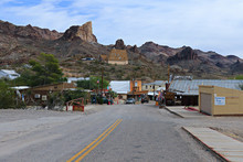Panoramic View Of Oatman - A Historic Ghost Town In Arizona,