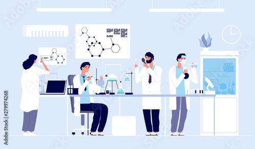 Fototapeta Scientists in lab