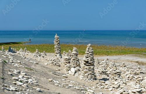 Tableau sur Toile Cairns on Île de Ré coast
