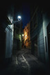 Street of Jaen at night - Jaen, Andalusia, Spain