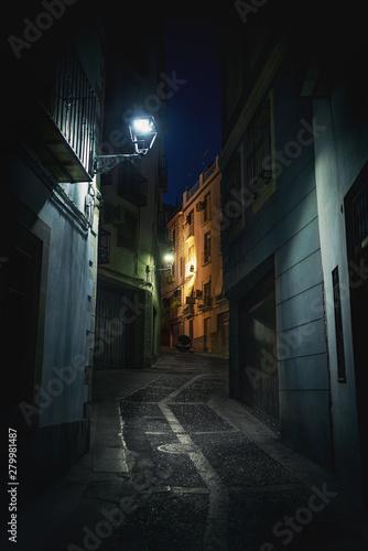 Street of Jaen at night - Jaen, Andalusia, Spain Fototapete