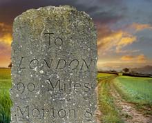 Historic Roadside Stone Mile M...