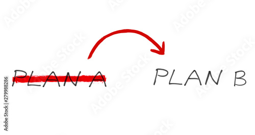 Plan B als Alternative zu Plan A Canvas Print