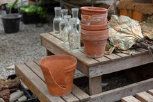 Empty Brown Clay Pots For Home...