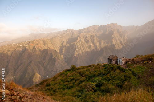 Aluminium Prints Texas Little house at the mountains, Cabo Verde