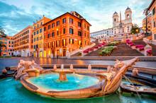 Piazza De Spagna In Rome, Ital...