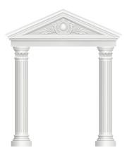 Antique Arch. Colonnade Palace...
