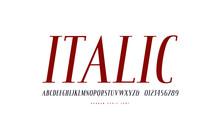 Italic Narrow Serif Font In Antique Style