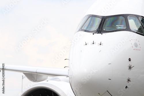 Flugzeugfront Canvas Print