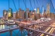 Leinwandbild Motiv New York, USA Lower Manhattan skyline