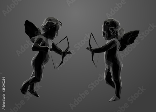 Slika na platnu Cupid in Black and White