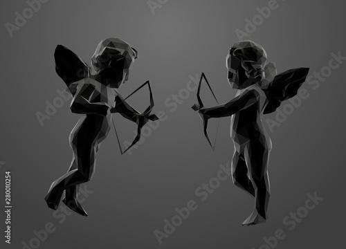 Cupid in Black and White Fototapeta