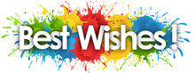 Best Wishes In Splash's Background