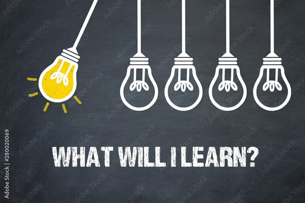Fotografie, Obraz What will I learn?