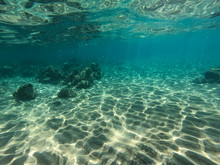 Underwater View Of Rocks And S...