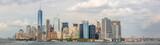 Fototapeta Nowy Jork - Panoramic view to Manhattan skyline from Staten Island ferry