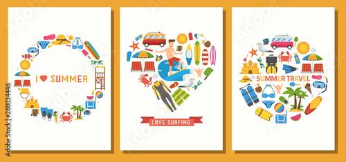 Valokuva I Love Summer Holidays Card Print Templates