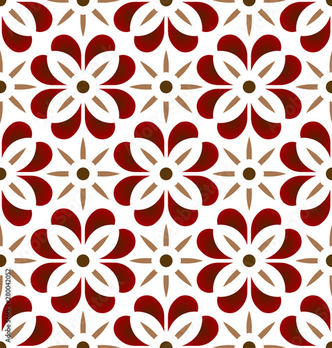 cute tile pattern vector Fototapeta