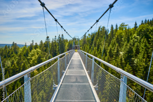 Fotografía Suspension Bridge at town of Bad Wildbad in Black Forest in Germany