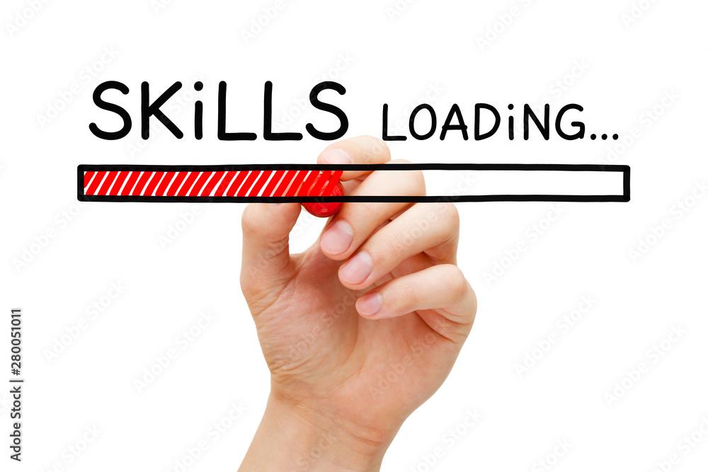 Fotografía Skills Development Loading Bar Concept