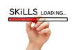 Leinwanddruck Bild - Skills Development Loading Bar Concept