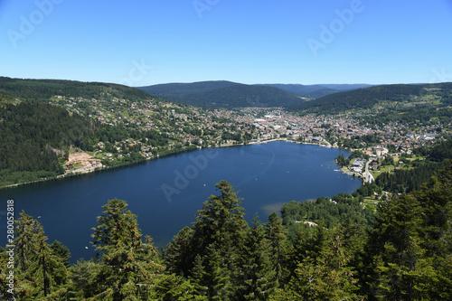 Obraz na płótnie Le lac de Gérardmer depuis l'observatoire de Merelle