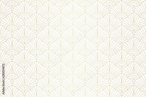 Elegant art nouveau seamless pattern Wallpaper Mural