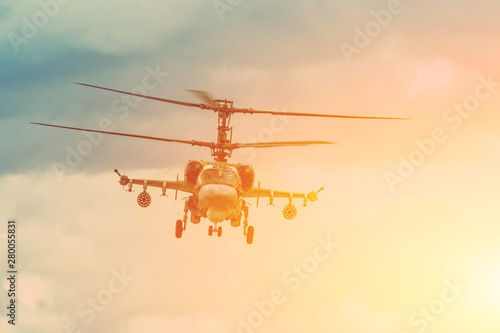 Military combat helicopter ...