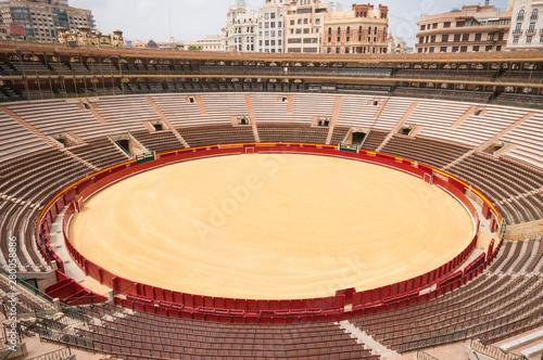 Bull ring arena in Valencia, Spain Canvas Print