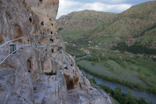 Caves In Ancient Rock-hewn Town. Uplistsikhe Is Identified As One Of The Oldest Urban Settlements In Georgia (4th Century).