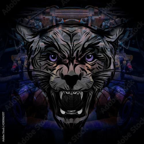 wild pantera tatoo - Illustration