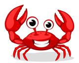 Fototapeta Fototapety na ścianę do pokoju dziecięcego - Crab character smiling with big claws on a white.