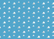 canvas print picture - Background Room Kids - Clouds blue Room