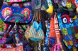 Leinwanddruck Bild - Indian style bags in Oman market