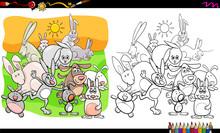 Funny Rabbits Animal Character...
