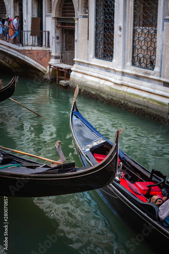 Poster Gondolas GONDOLA IN THE VENICE CANAL IN ITALY